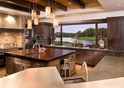 kitchen island in Eden Prairie Bearpath Renovation
