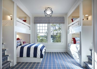 John Kraemer & Sons Brainerd Lakes Shingle Style kids bedroom