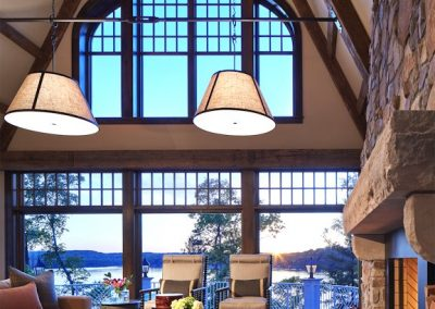 John Kraemer & Sons Brainerd Lakes Shingle Style great room interior