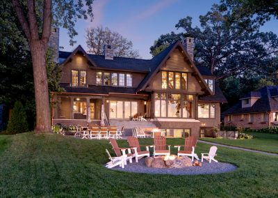 Buffalo Lake custom Home backyard