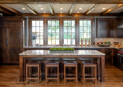 Buffalo Lake custom Home dining room