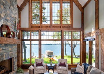Buffalo Lake custom Home great room