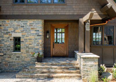 Buffalo Lake custom Home front entry