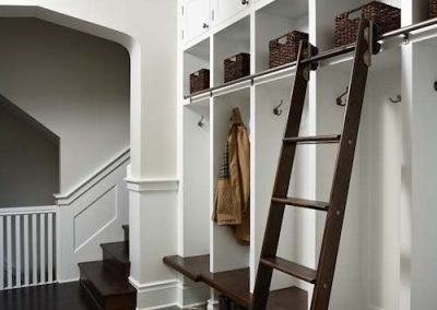 mud room in dining room in Historic Renovation in Crocus Hill