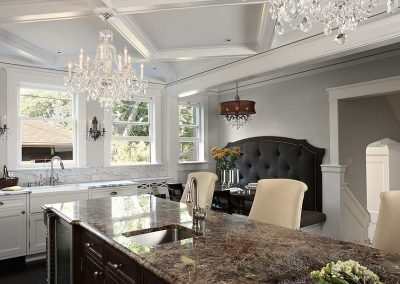 kitchen island in dining room in Historic Renovation in Crocus Hill
