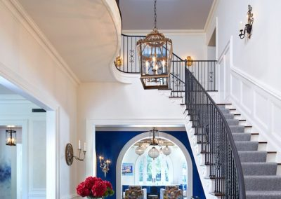 Edina French Mediterranean foyer