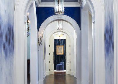 Edina French Mediterranean hallway arch