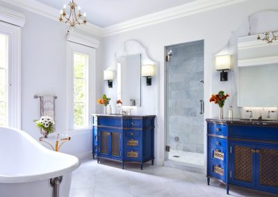 Edina French Mediterranean master bath