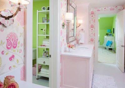 master bath in Edina Country home