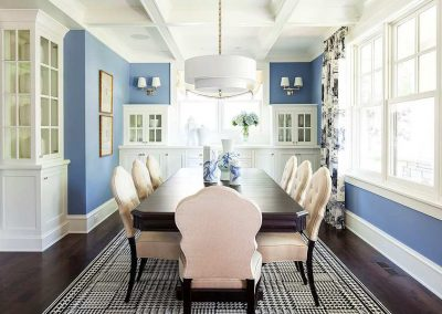 dining room in Edina Country home
