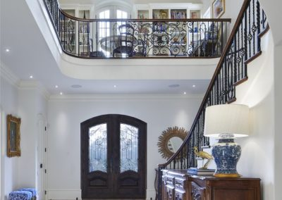 foyer for French Country home in St. Paul