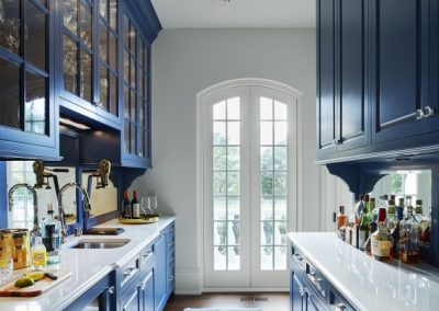 pantry in French Country home in St. Paul