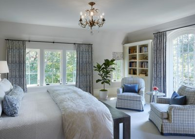 master bedroom in French Country home in St. Paul