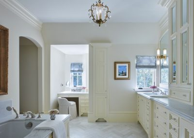 master bath in French Country home in St. Paul