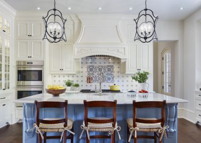 kitchen in French Country home in St. Paul