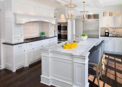 kitchen island renovation in Highland Park, St. Paul