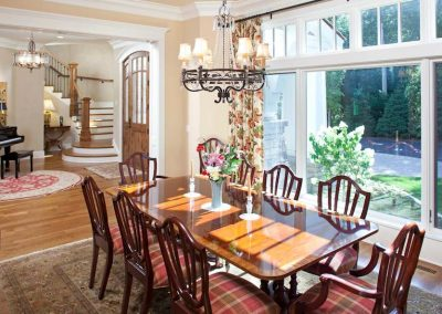dining room in Interlachen Country Club home in Edina