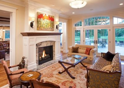 living room in Interlachen Country Club home in Edina