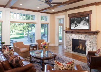 family room in Interlachen Country Club home in Edina