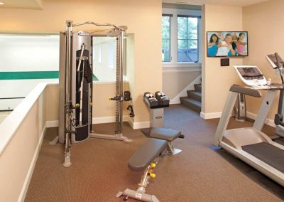workout room in Interlachen Country Club home in Edina