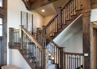 Minnesota River Rustic Lodge stairway