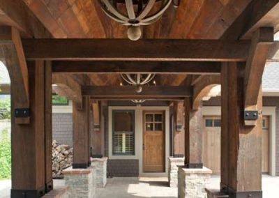 grand entrance in Rustic Medina renovation by John Kraemer and Sons