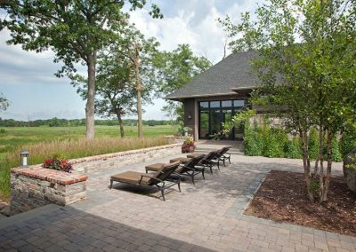 patio in Rustic Medina renovation by John Kraemer and Sons