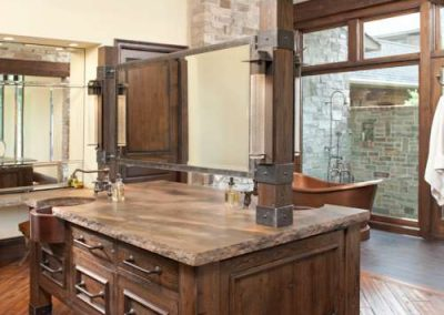 kitchen renovation in Rustic Medina project