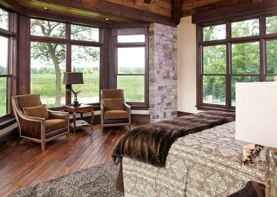 master bedroom renovation in Rustic Medina project by John Kraemer and Sons