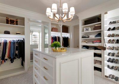 master closet in Wayzata Penthouse1
