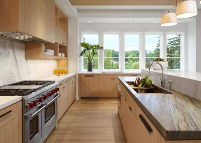 kitchen in Wayzata Modern estate