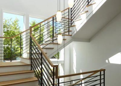 staircase in Wayzata Modern estate