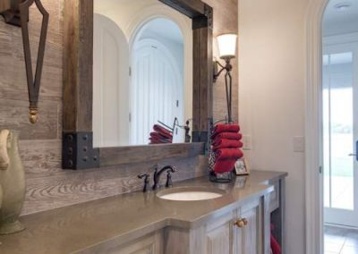 powder room in Candy Cove home on Prior Lake