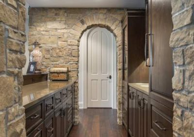 arched doorway in Candy Cove home on Prior Lake