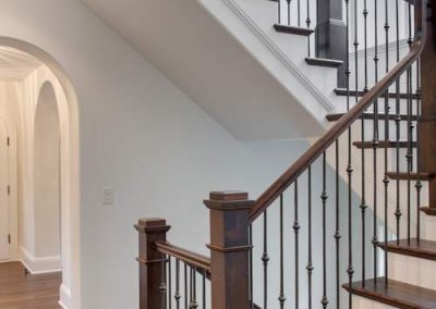 staircase in Candy Cove home on Prior Lake