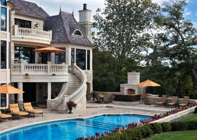 backyard pool in Deephaven dream home