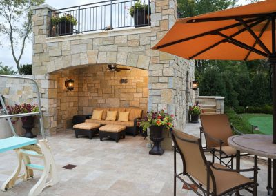 outdoor patio in Deephaven dream home