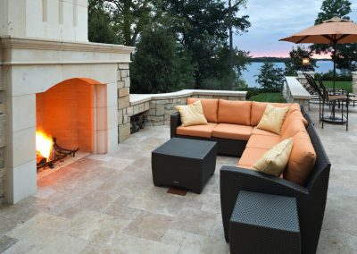 outdoor patio in Deephaven dream home