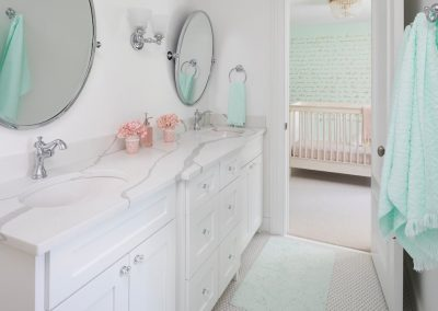 John Kraemer & Sons Edina French Modern nursery washroom