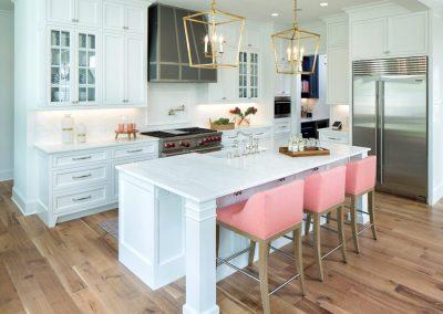 kitchen island in Edina Shingle Style Home