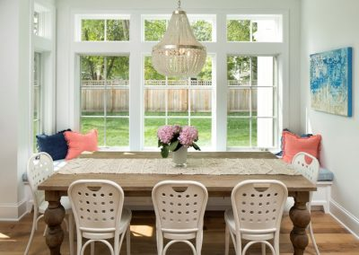 dining room in Edina Shingle Style Home