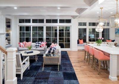 great room and windows in Edina Shingle Style Home