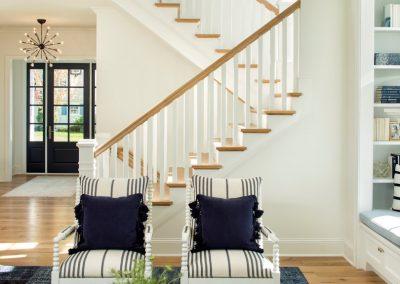 stairway in Edina Shingle Style Home