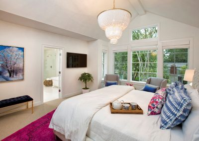 master bedroom in Edina Shingle Style Home
