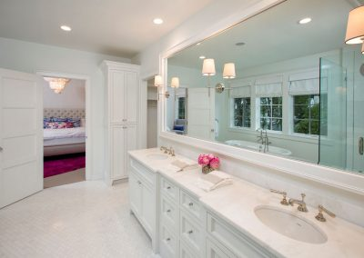 master bath in Edina Shingle Style Home