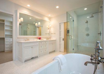 master bath in Edina Shingle Style Home