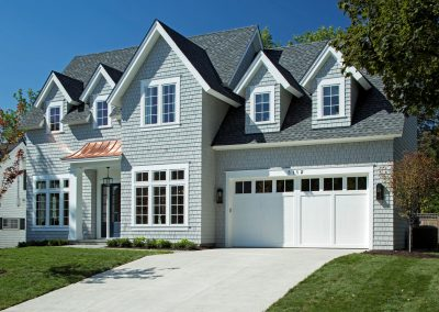 garage on Edina Shingle Style Home