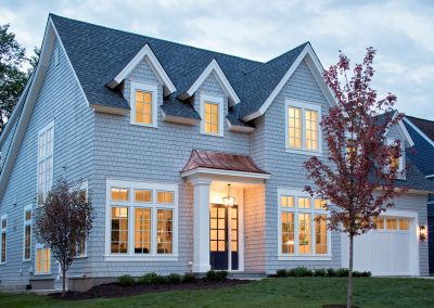 Edina Shingle Style home by custom homebuilders John Kraemer & Sons