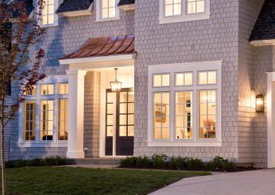 grand entry to Edina Shingle Style Home