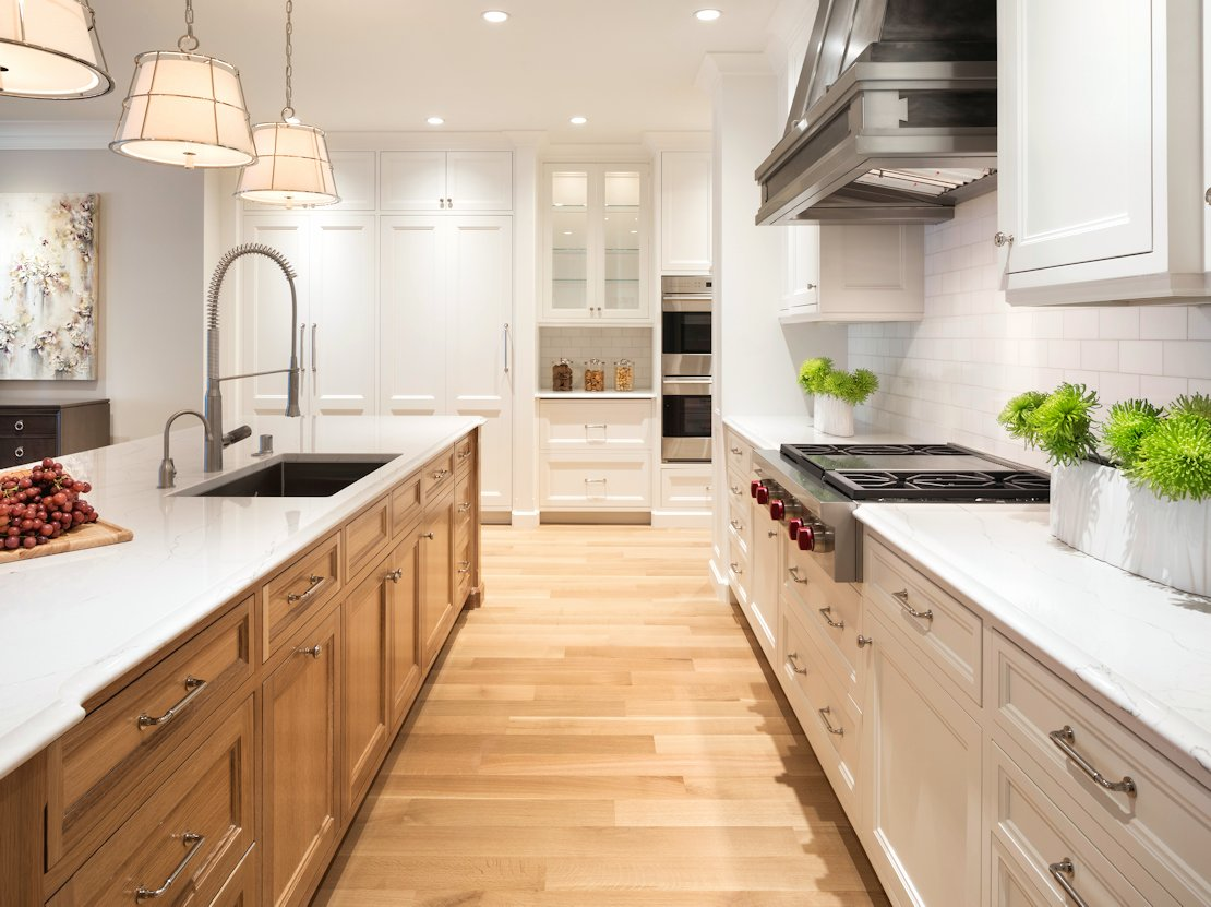 White Oak Wood Kitchen Cabinets